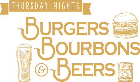 Thursday nights - burgers bourbons and beers